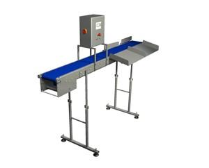 Конвейер с динамическими весами для контроля веса продукта