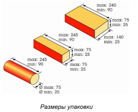 EUROPACK (X-fold) размеры упаковки