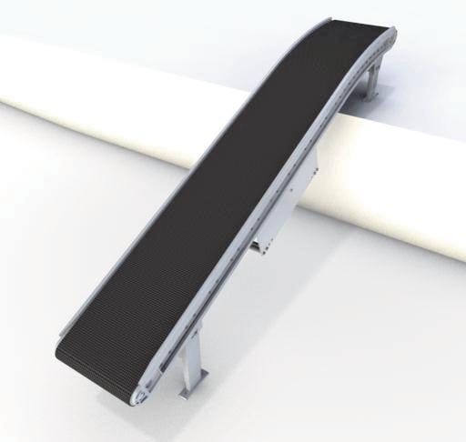 Горизонтально-вертикальный ленточный приводной коробочный конвейер