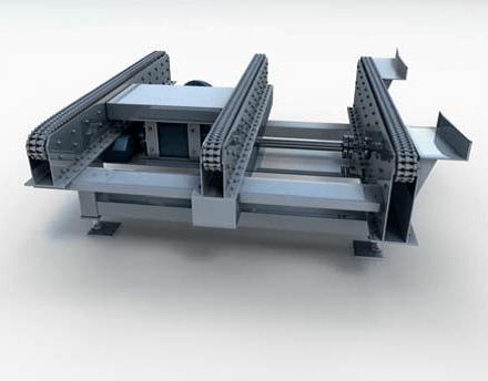 Горизонтальный паллетный приводной цепной конвейер