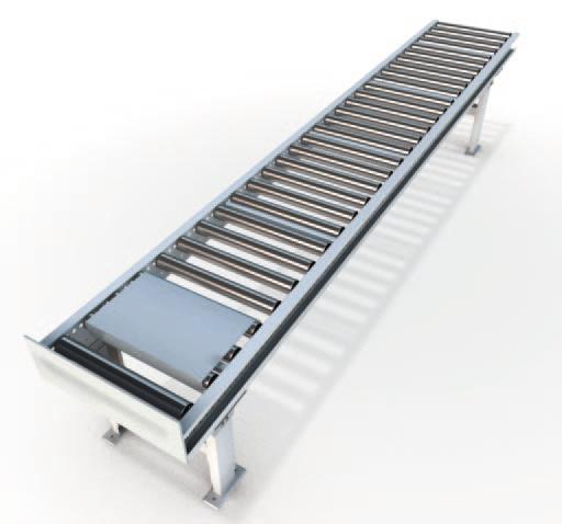 Горизонтальный роликовый не приводной коробочный гравитационный конвейер