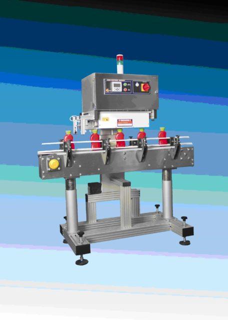 Автомат для индукционного приваривания платинки к горлышку стеклянной или пластиковой тары