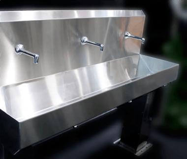 Раковины для мытья рук (с фотоэлементами)