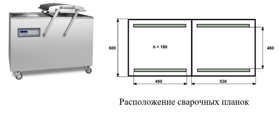 Двухкамерная вакуумная упаковочная машина PP22