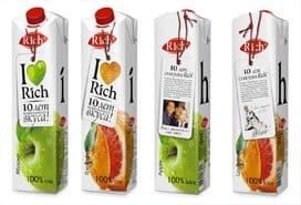 Упаковка соков в пленку