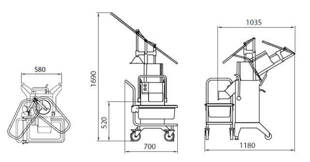 Овощерезка RG-400i схема оборудования