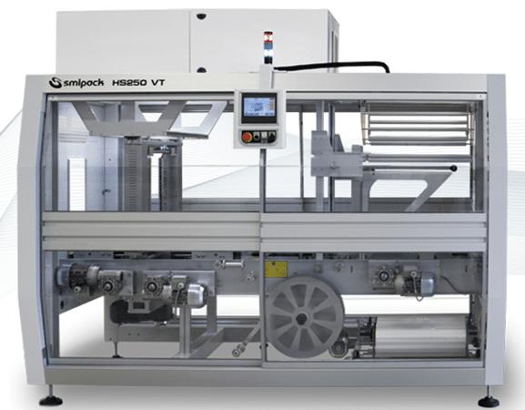 SMIPACK HS250 VT – новый автоматический упаковщик циклического принципа действия с тремя конвейерами