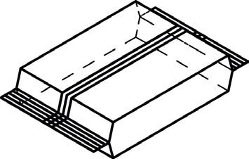 ФЛОУ-ПАК. НИЖНИЙ ИЛИ ВЕРХНИЙ ПРОДОЛЬНЫЙ ШОВ для ламинированной бумаги (например, с ПЭ покрытием или холодным клеем)