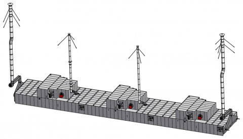 Конвекционная туннельная газовая печь от компании mif