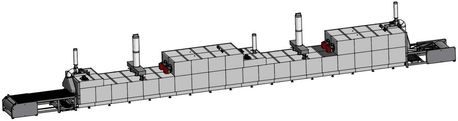 Циклотермическая газовая туннельная печь