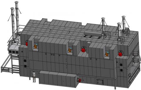 Конвекционная газовая печь от компании mif